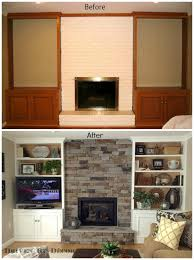 Living Room Bookcases Built In Transforming A Fireplace And Built In Bookcases Driven By Decor