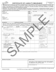 Fillable Certificates Certificate Of Liability Insurance Form Fillable Lovely Elegant
