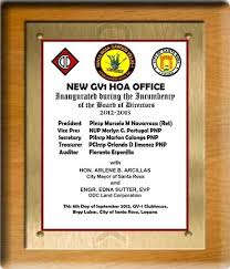 hoa office. HOA OFFICE September 8, 2012. The New Office Space Was Provided By DDC Land Corp Executive Vice President Engr Edna Sutter Hoa O