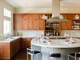 Curved Kitchen Island Designs Vintage Open Plan Eat In Kitchen Design With Modular Curved Rustic