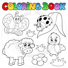 Small Picture coloring book cartoon spring face Cartoon Coloring Book Spring