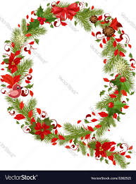 Christmas floral tree letter Q vector image