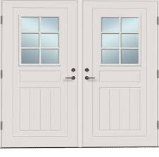 white double front door. White Double Front Door Photo - 2 E