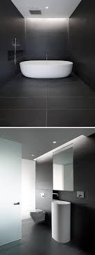 tiles bathroom floor. Bathroom Tile Ideas - Use Large Tiles On The Floor And Walls // Dark