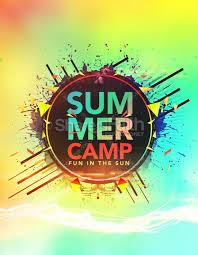 Summer Camp Fun In The Sun Church Flyer Template Flyer Templates
