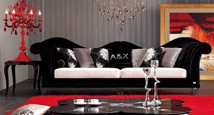 black and white living room decor. red and black living room furniture white decor