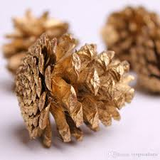 3 colour pinecone pendant natural woody golden pinecone tree pendant decoration supplies crafts rooms decorated for