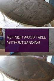 refinish wood table without sanding