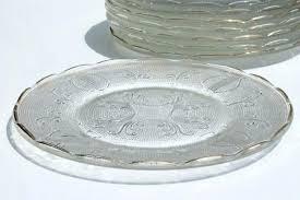 glass dessert plates glass dessert plates vintage glass harp pattern set of 8 depression glass dessert glass dessert plates