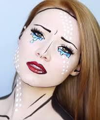 pop art makeup here s the perfect last minute solution for all you artsy types create a unique lichtenstein masterpiece on your face