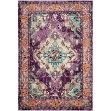 monaco violet light blue 8 ft x 10 ft area rug