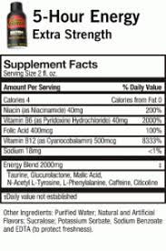 what is in 5 hour energy extra strength