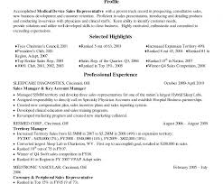 Best Medical Device Sales Resume Examples Rep Example Equipment