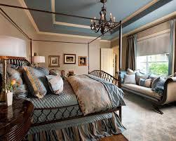 Blue and Beige Master Bedroom traditional-bedroom