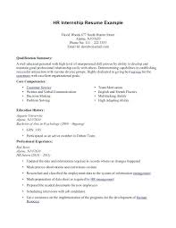 internship resume template for college students student sample