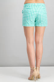 Shop Merona Womens Gingham Chino Shorts Tumble Green For
