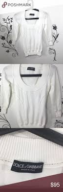 Dolce Gabbana White Sweater Size 2 38 Womens Dolce And