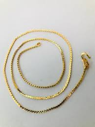 gold plated alloy chain necklace for
