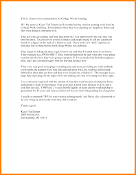 5 Recommendation Letter For College Sample Format Of Notice
