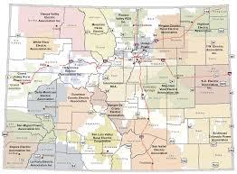 colorado rural electric association  coop map of colorado  list