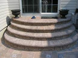 patio steps pea size x: ace paver south jersey paver contractor examples of steps from standard to custom south jersey