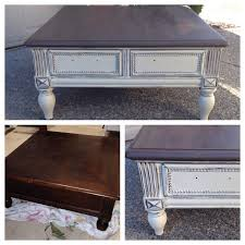 chalk painted annie sloan coffee table chalk paint coffee table