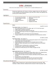 resume skills nanny professional resume cover letter sample resume skills nanny nanny resume and cover letter examples the balance part time nanny resume sample