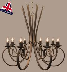 tower italian style wrought iron 8 light chandelier uk made