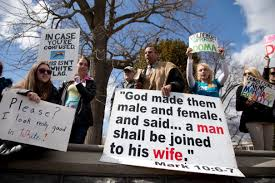 support remains high for gay marriage but opposition grows msnbc allan hoyle of north carolina the large white sign center speaks out
