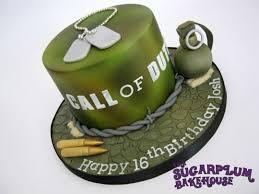 Call Duty 16th Birthday Cake cake by Sam Harrison CakesDecor