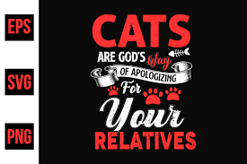 Cat Typographic Quotes Design Vector Graphic By Ajgortee Creative Fabrica