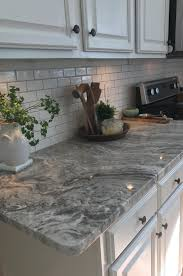 Granite Kitchen Tiles Fantasy Brown Granite With Backsplash Sw Repose Gray Paint