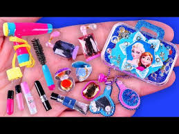 30 diy miniature barbie makeup kit