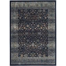 safavieh persian garden vintage lazurus navy light blue indoor oriental area rug common
