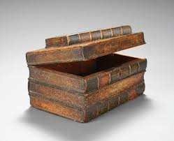 delightful clever tromp l oeil box created to resemble a stack of old books