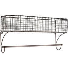 bathroom shelf decor wire wall basket