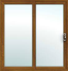 oak 2 pane sliding patio doors