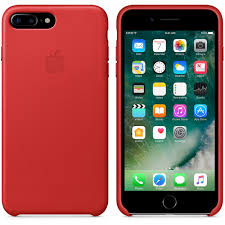 leather case for apple iphone 7 plus red