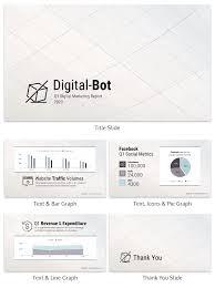 business quarterly report template quarterly digital marketing report business presentation template