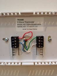 hvac how can i modify a 4 wire thermostat to a new thermostat trane thermostat trane thermostat wiring