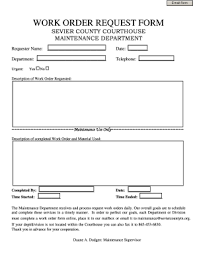 Maintenance Work Order Template Word 92 Printable Work Order Forms Templates Fillable Samples
