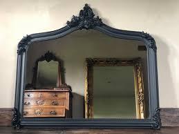 over mantle mirror matt black