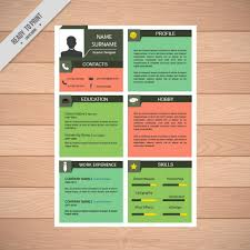 Colors squares resume template free download