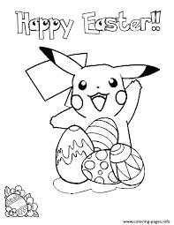 Easter Coloring Pages Printable Pikachu