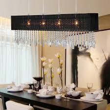 71 most divine extraordinary rectangular shade chandelier pendant black with crystal wooden dining table vas flower