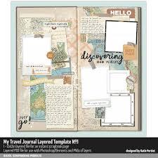 Journal Templates My Travel Journal Layered Template No 01 Katie Pertiet