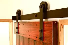 image of hardware set interior sliding barn wood door