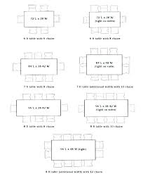 Rectangle Tablecloth Chart Astounding Rectangle Table Dimensions Size To Seat 8 Length
