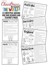 Christmas Around the World reading response, comprehension, crafts ...