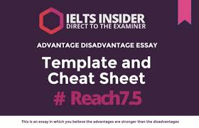 advantage and disadvantage essay template and cheat sheet ielts advantage and disadvantage essay template and cheat sheet